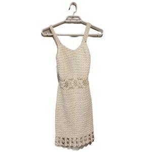 Handmade Crocheted Bodycon Dress - Women's Size XS